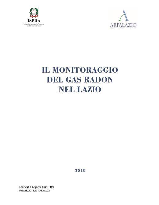 ARPA LAZIO MONITORAGGIO RADON