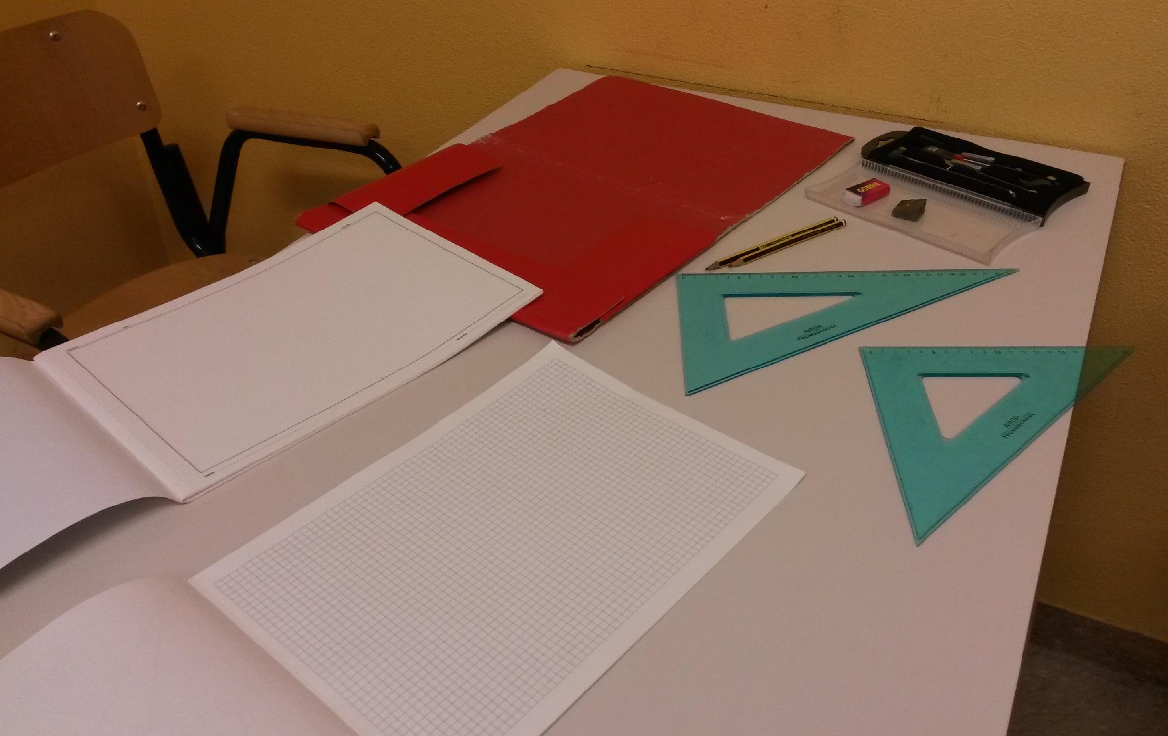 Il materiale per il disegno tecnico