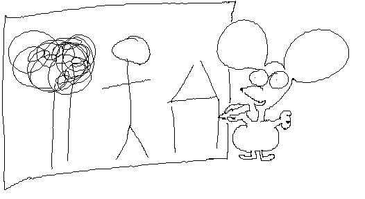 Jerry disegna come un bambino