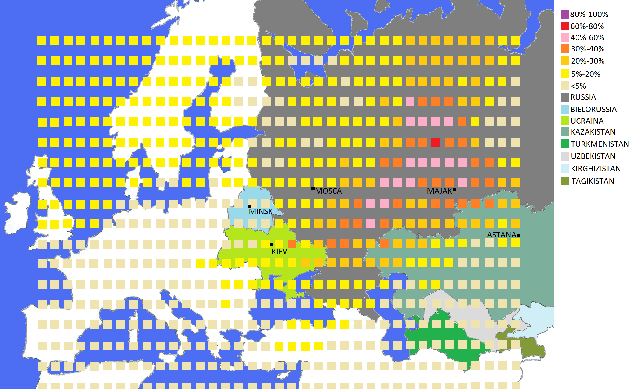 Ottobre 2017 una nube di Rutenio-106 si diffonde in Europa
